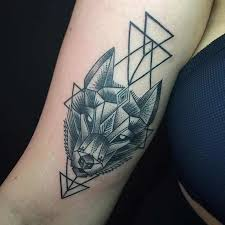 Forearm Wolf - 25 amazing geometric dotwork wolf tattoos tattooblend