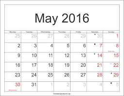 may 2016 calendar printable with holidays pdf and jpg
