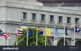 State Flags Of Usa State Flags Us Union Station Washington Stock Photo 107106263
