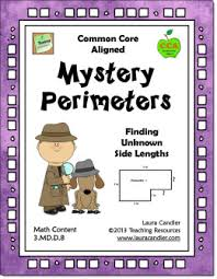 mystery perimeters freebie from laura candler u0027s common core math