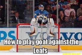 Funny Nhl Memes - hockey memes how to play goal against the leafs picsmine