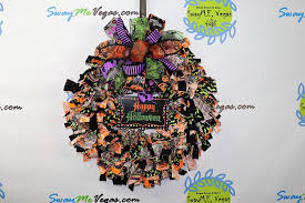 Home Decor More Amazon Com Handmade Halloween Fabric Rag Wreath Happy Halloween