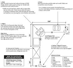 Square Feet Calc Countertop Square Footage Calculator Dcbulo Com