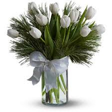 white tulips 10 stems of white tulips online shop dubai gifts flowers to