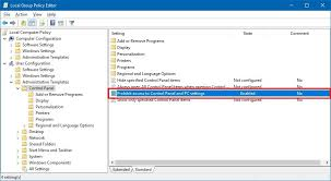how to disable access to windows 10 u0027s settings app and control
