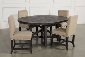 Cochrane Bedroom Furniture Made In Usa Jaxon 5 Piece Round Dining Set W Upholstered Chairs Living Spaces