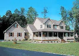 farm home plans country home plan with marvelous porches 4122wm architectural