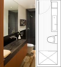 Bathroom Layout Ideas by Narrow Bathroom Layout Guest Bathroom Effective Use Of Space