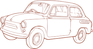 outline drawing of vintage car isolated stock photo by nobacks com
