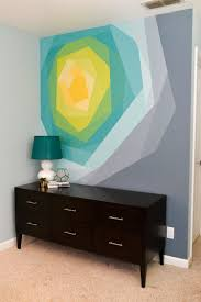 is paint any painted flower wall mural artwork geometric wall paint