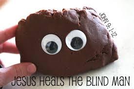 Jesus Heals The Blind Man Preschool Craft Jesus Heals The Blind Man I Can Teach My Child