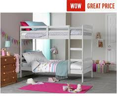 Buy HOME Josie Bunk Bed With  Elliott Mattresses White At Argos - Matresses for bunk beds