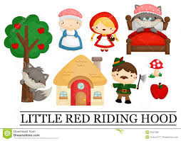 red riding hood stock vector image child fairy 53307380