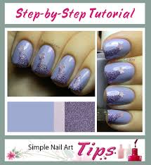 lavender shooting stars nail art step by step tutorial by www