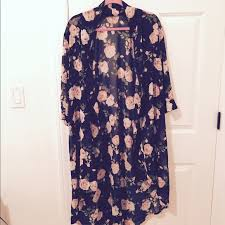 47 off forever 21 other floral rose kimono from keena u0027s closet