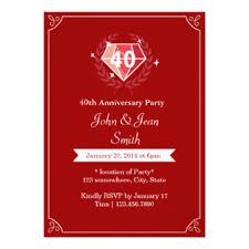 40th anniversary invitations 40th wedding anniversary invitation wording