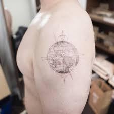 Map Tattoo Download Small Tattoo Earth Danielhuscroft Com