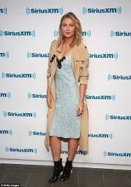 maria sharapova shows off hint of cleavage in blue dress cetusnews