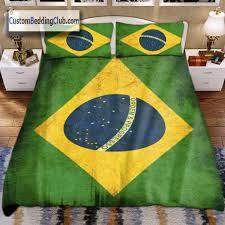 Brazil Flag Image Brazil Flag Bedding Set Blanket U0026 Bed Sheets Flag Bed Set