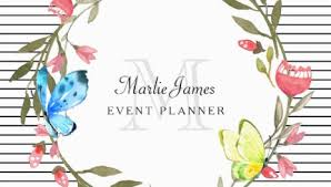 girly event planning business cards page 1 girly business cards