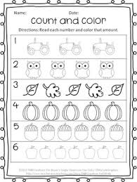 enjoy this free fall coloring and counting worksheet perfect for