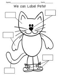 pete the cat craft made out of shapes the pattern is a free