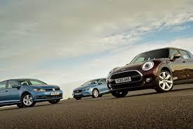 volkswagen mini cooper mini clubman vs volkswagen golf vs volvo v40 auto express