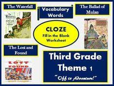 cloze worksheets for houghton mifflin harcourt second grade