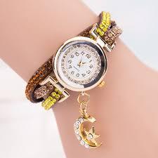 crystal bracelet watches images Women crystal band wave bracelet dial quartz analog wrap wrist jpg
