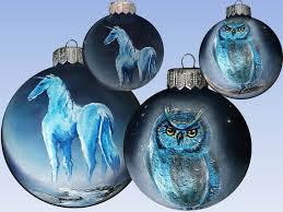 custom painted ornament eagle owl