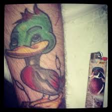 skull duck bird 3d tattoos design idea for men and women