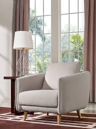 Fabric Sofa Set Divani Casa Dakota Modern Beige Fabric Sofa Set