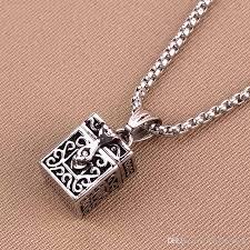 vintage necklace box images Wholesale ashes magic box pendant urn keepsake vintage necklace jpg