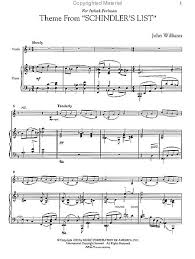 theme schindler s list cello three pieces from schindler s list violin piano taylors music