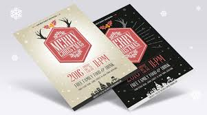 free flyer designs free vector vintage party christmas flyer template design