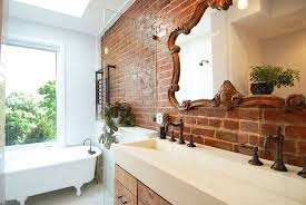 Finished Bathrooms 33 Bathroom Designs With Brick Wall Tiles Ultimate Home Ideas