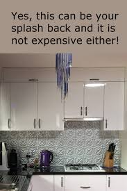 pressed metal panels make budget priced splashbacks see more