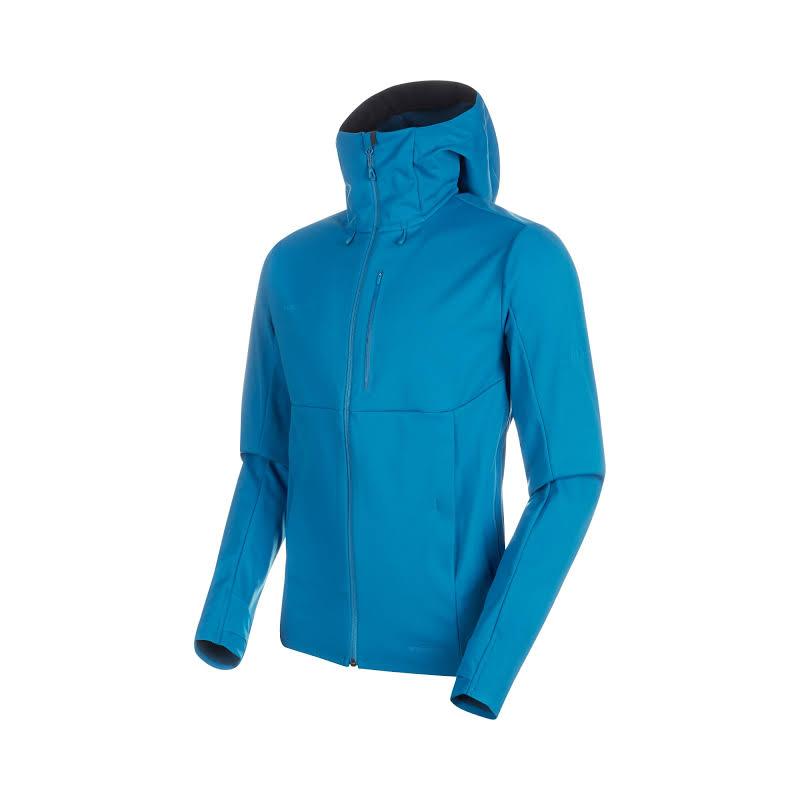 Mammut Ultimate V Hooded Softshell Jacket Sapphire/Wing Teal Melange Extra Large 1011-00061-50256-116