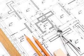 blueprint floor plan blueprint floor plans with drawing tools stock photo picture and