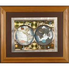 Framed World Map by Class Accurate World Map Framed Matted 1626