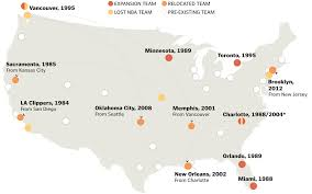Nba Map How The Nba Changed During David Stern U0027s Tenure As Commissioner