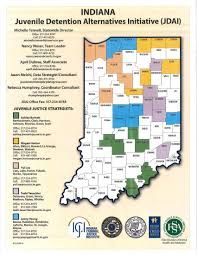 Indiana Counties Map Division Of Youth Services Jdai
