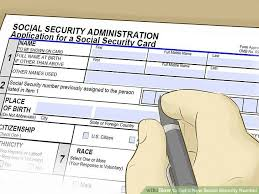 how to get a new social security number with pictures wikihow