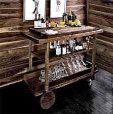 wooden bar carts foter