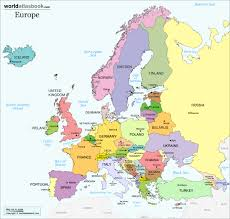 map of euorpe political europe map with countries and capitals