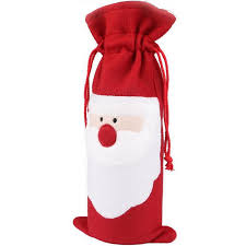 Christmas Ball Decorations Wholesale by Wholesale Red Wine Bottle Cover Bags Christmas Dinner Table