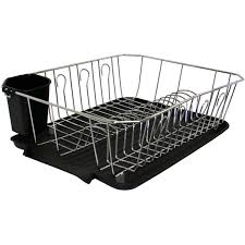 Dish Rack And Drainboard Set Better Homes And Gardens Black Wire Dish Rack Walmart Com