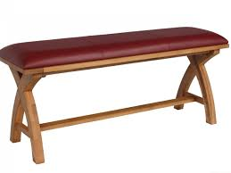 red leather bench red leather wooden bench