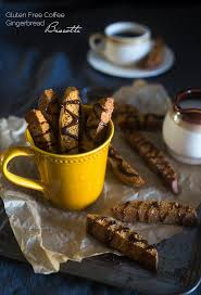 gingerbread gluten free biscotti with coffee glaze food faith