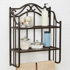 Bed Bath And Beyond Bathroom Shelves by Chapter Bathroom Storage Wall Shelf Oil Rubbed Bronze Finish